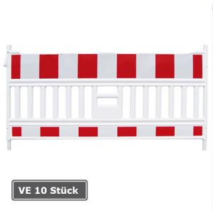 Schrankenzaun -Vario- ohne Leuchtstutzen, Länge 2130 mm, rot / weiß, Folienbreite 2 m, Verpackungseinheit (VE) 10 Stück (Ausführung: Schrankenzaun -Vario- ohne Leuchtstutzen, Länge 2130 mm, rot/weiß, Folienbreite 2 m, Verpa