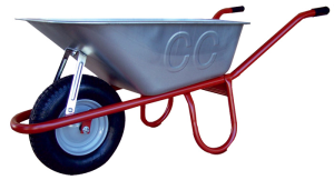 Schubkarre Capito -Allcar 100-, 100 Liter, mit Kippbügel, Einzelabnahme oder Set 5 Stück (Lager/Anlieferung/Menge: Kunststoffgleitlager/ <b>montiert</b><br>Einzelabnahme (Art.Nr.: 50910algl))
