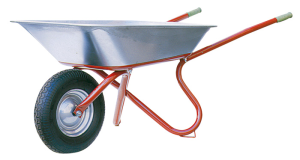 Schubkarre Capito -Export-, 85 Liter, Einzelabnahme oder Set 5 Stück (Bereigung/Lager/RadgrößeAnlieferung/Menge: Luftrad mit Rillen-Kugellager<br>Radgröße 400x100mm<br> <b>zerlegt</b>/Set 5 Stück (Art.Nr.: 51900exkl-ve5))