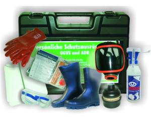 Schutzausrüstungskoffer -PSA IV-, mit Erste Hilfe Ausrüstung, nach ADR / GGVSE (Ausführung: Schutzausrüstungskoffer -PSA IV-, mit Erste Hilfe Ausrüstung, nach ADR/GGVSE (Art.Nr.: 35858))