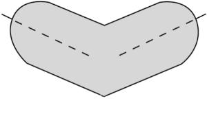 Schutzecken für Warn- und Schutzprofil -Typ A und E- (Modell/Variante: für Typ A/zweischenklig (Art.Nr.: 410810))