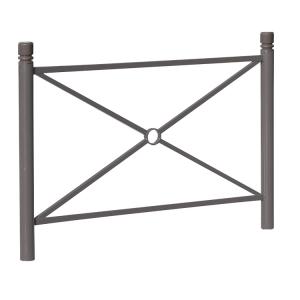 Schutzgeländer -Trend- aus Stahl, zum Einbetonieren, wahlweise mit Großkreuz oder Gittermaschen