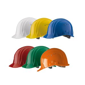 Schutzhelm -Baumeister 80- aus HDPE, 6-Punkt-Gurtband, CE geprüft, nach DIN EN 397 (Farbe: weiß (Art.Nr.: 35085))