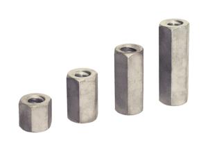 Sechskantmuttern SW 30 für Rollgewinestab Ø 15 mm, VPE 10 Stk. (Länge/Menge:  <b>30 mm</b> / VPE 10 Stk. (Art.Nr.: 11304))