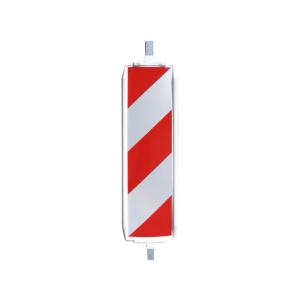 Sicherheitsbake -Typ 40A-, Folie RA1 oder RA2, rot / weiß o. gelb / rot, durchgehendes ALU-Stützrohr (Folie/Richtungsangabe/Farbe:  <b>Schraffenfolie RA1</b><br>doppelseitig, rechts-/linksweisend<br>rot/weiß (Art.Nr.: 36057a))