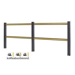 Sicherheitsgeländer -Bounce-, Höhe 1150 mm, Länge 1250, 2500 oder 3750 mm