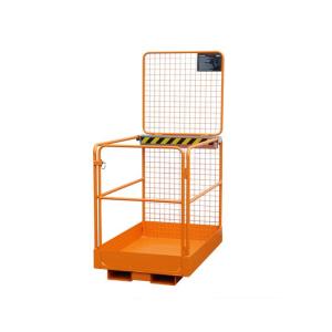Sicherheitskorb -Typ SIKO-L- aus Stahl, Einfahrtaschen an der schmalen Seite (Farbe: RAL 2000 gelborange (Art.Nr.: 38373))