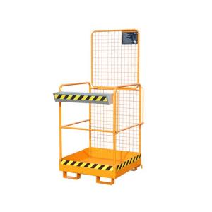 Sicherheitskorb -Typ SIKO-M- aus Stahl, mit rutschfester Arbeitsplattform (Farbe: RAL 2000 gelborange (Art.Nr.: 38374))