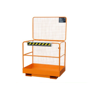 Sicherheitskorb -Typ SIKO- aus Stahl, Einfahrtaschen an der breiten Seite (Farbe: RAL 2000 gelborange (Art.Nr.: 38372))