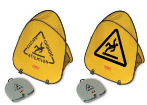 Sicherheitspylon, Höhe 508 mm, faltbar, inkl. Lagerbehälter (Modell: ohne Sprachaufdruck (Art.Nr.: 12148))