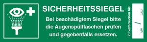 Sicherheitssiegel für Augenspülstationen auf Bogen, 5 Stück (Ausführung: Sicherheitssiegel für Augenspülstationen auf Bogen, 5 Stück (Art.Nr.: 30.c9030))