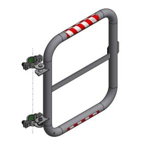 Sicherheitstür -Safe Guardian- für Steigleitern, aus Edelstahl, Breite 500 mm (Modell: rechtsseitig selbstschließend (Art.Nr.: 40134))