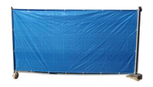 Sichtschutzplane für Mobilzäune mit Aluminium-Ösen, VE 5 Stück, versch. Farben, 1,75 x 3,40 m (Farbe/Verpackungseinheit:  <b>weiß</b>/VE 5 Stk. (Art.Nr.: 12532))
