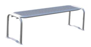 Sitzbank -Ercole- ohne Rückenlehne, aus Stahl, Sitzfläche aus Drahtgitter, mobil