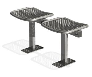Sitzbank -Face- ohne Rückenlehne, aus Stahl, Sitzfläche aus Drahtgitter