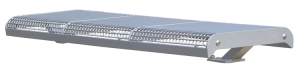 Sitzbank -Freelax-, Stahl, Sitzfläche aus Drahtgitter, Sockelbefestigung, optionale Rückenlehne