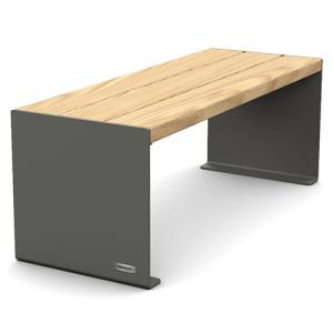 Sitzbank -Kube- ohne Rückenlehne, Stahl, Sitzfläche Holz, verschiedene Längen