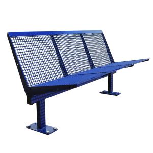 Sitzbank -Level- aus Stahl, Sitz- und Rückenfläche aus Drahtgitter, zum Aufdübeln