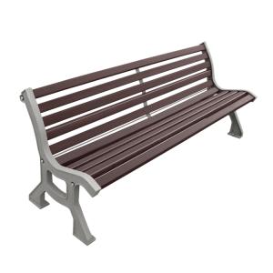 Sitzbank -Lubo- mit Rückenlehne, aus Stahl, Sitz- und Rückenfläche aus Holz, zum Aufdübeln (Lasurfarbe: Mahagoni (Art.Nr.: 31234))