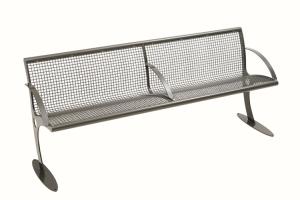 Sitzbank -Malo Plus- Stahl, mit Rückenlehne (Ausführung: Sitzbank -Malo Plus- Stahl, mit Rückenlehne (Art.Nr.: 34648))