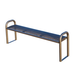 Sitzbank -Metis- aus Stahl, wahlweise mit Rückenlehne
