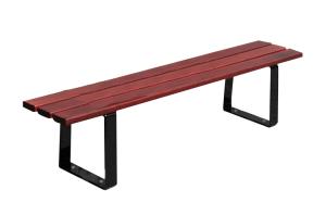 Sitzbank -Puro- ohne Rückenlehne, aus Stahl, Sitzfläche aus Mahagoni-Holz (Ausführung: Sitzbank -Puro- ohne Rückenlehne, aus Stahl, Sitzfläche aus Mahagoni-Holz (Art.Nr.: 31246))