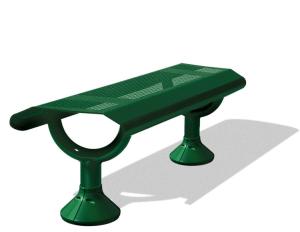 Sitzbank -Siton- aus Stahl, Länge 1500 mm