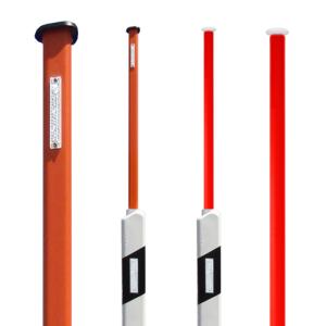 Sockel-Leitpfosten, mit integriertem, ausziehbaren Schneeleitstab, Länge 1,20 m