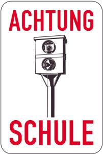 Sonderschild, ACHTUNG, SCHULE, 400 x 600 mm (Ausführung: Sonderschild, ACHTUNG, SCHULE, 400 x 600 mm (Art.Nr.: 15043))