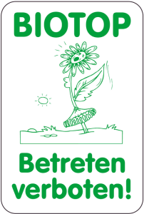 Sonderschild, BIOTOP, Betreten verboten!, 400 x 600 mm (Ausführung: Sonderschild, BIOTOP, Betreten verboten!, 400 x 600 mm (Art.Nr.: 14996))