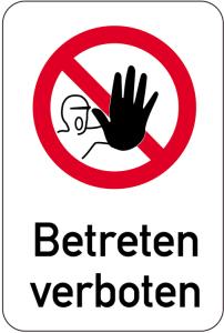 Sonderschild, Betreten verboten, 400 x 600 mm (Ausführung: Sonderschild, Betreten verboten, 400 x 600 mm (Art.Nr.: 14972))