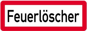 Sonderschild, Feuerlöscher, 597 x 210 mm (Ausführung: Sonderschild, Feuerlöscher, 597 x 210 mm (Art.Nr.: 14961))