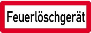 Sonderschild, Feuerlöschgerät, 597 x 210 mm (Ausführung: Sonderschild, Feuerlöschgerät, 597 x 210 mm (Art.Nr.: 14964))
