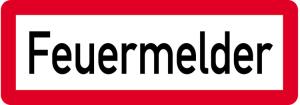 Sonderschild, Feuermelder, 597 x 210 mm (Ausführung: Sonderschild, Feuermelder, 597 x 210 mm (Art.Nr.: 14958))