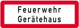 Sonderschild, Feuerwehr Gerätehaus, 597 x 210 mm (Ausführung: Sonderschild, Feuerwehr Gerätehaus, 597 x 210 mm (Art.Nr.: 14957))