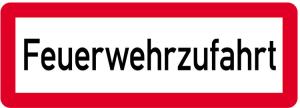 Sonderschild, Feuerwehrzufahrt, 597 x 210 mm (Ausführung: Sonderschild, Feuerwehrzufahrt, 597 x 210 mm (Art.Nr.: 14966))