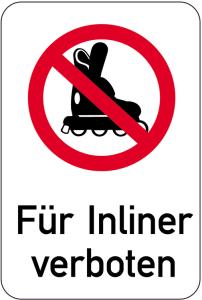 Sonderschild, Für Inliner verboten, 400 x 600 mm (Ausführung: Sonderschild, Für Inliner verboten, 400 x 600 mm (Art.Nr.: 14977))