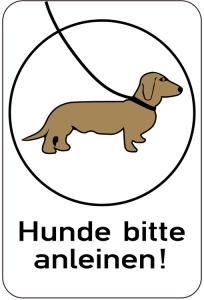 Sonderschild, Hunde bitte anleinen, 400 x 600 mm (Ausführung: Sonderschild, Hunde bitte anleinen, 400 x 600 mm (Art.Nr.: 14925))