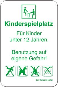 Sonderschild, Kinderspielplatz, Für Kinder unter 12 Jahren, 400 x 600 mm (Ausführung: Sonderschild, Kinderspielplatz, Für Kinder unter 12 Jahren, 400 x 600 mm (Art.Nr.: 14995))