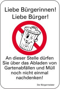 Sonderschild, Liebe Bürgerinnen!, Liebe Bürger!, 400 x 600 mm (Ausführung: Sonderschild, Liebe Bürgerinnen!, Liebe Bürger!, 400 x 600 mm (Art.Nr.: 15087))