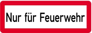 Sonderschild, Nur für Feuerwehr, 597 x 210 mm (Ausführung: Sonderschild, Nur für Feuerwehr, 597 x 210 mm (Art.Nr.: 14960))