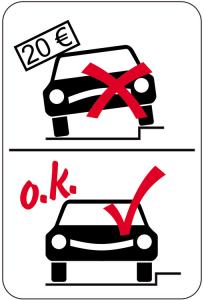 Sonderschild, Parken auf Gehweg verboten, 400 x 600 mm (Ausführung: Sonderschild, Parken auf Gehweg verboten, 400 x 600 mm (Art.Nr.: 15078))