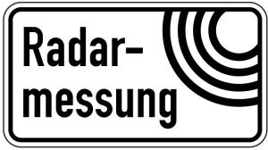 Sonderschild, Radarmessung (Breite x Höhe: 600 x 330 mm (Art.Nr.: 15018))