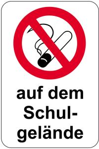 Sonderschild, Rauchverbot auf dem Schulgelände, 400 x 600 mm (Ausführung: Sonderschild, Rauchverbot auf dem Schulgelände, 400 x 600 mm (Art.Nr.: 15084))