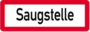 Sonderschild, Saugstelle, 597 x 210 mm (Ausführung: Sonderschild, Saugstelle, 597 x 210 mm (Art.Nr.: 14962))