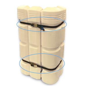 Spanngurt für Säulenanfahrschutz -Mountain-, Länge 4000 mm (Ausführung: Spanngurt für Säulenanfahrschutz -Mountain-, Länge 4000 mm (Art.Nr.: 37044))