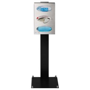 Spender / Service-Station -Stationär-, für Handschuh-, Handtuch- und Maskenspenderboxen (Ausführung: Spender/Service-Station -Stationär-, für Handschuh-, Handtuch- und Maskenspenderboxen (Art.Nr.: 40396))