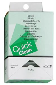 Spenderbox -PLUM QuickClean-, mit 40 Wundreinigungstüchern (Ausführung: Spenderbox -PLUM QuickClean-, mit 40 Wundreinigungstüchern (Art.Nr.: 24946))