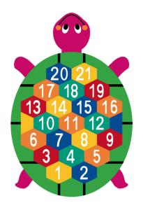 Spielplatzmarkierung Hüpfspiel DecoMark® -Schildkröte- aus Thermoplastik (Ausführung: Spielplatzmarkierung Hüpfspiel DecoMark® -Schildkröte- aus Thermoplastik (Art.Nr.: 28015))