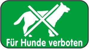 Spielplatzschild, Für Hunde verboten, 420 x 231 mm (Ausführung: Spielplatzschild, Für Hunde verboten, 420 x 231 mm (Art.Nr.: 14849))